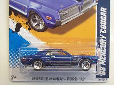 '68 MERCURY COUGAR Ford - Blue * 2012 Hot Wheels * 5sp Error Variation * A6