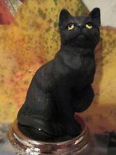 CAT SHORT HAIR  BLACK  TABBY  WINE STOPPER