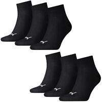 Puma Calcetines Cuartos Zapatillas Mujer y Hombre 6er Pack Tallas 35-46 -