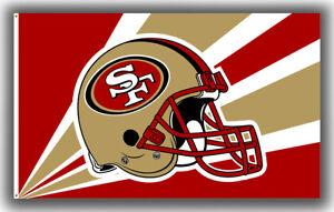 San Francisco 49ers Football Team Helmet Flag 90x150cm 3x5ft Best banner