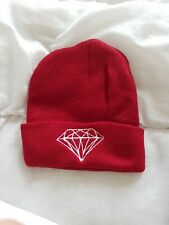 DIAMOND BEANIE , BEANY DARK RED ONE SIZE FITS (NORTH FACE, CARHARTT, SUPPLY CO )
