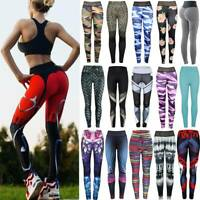 Women's Sports Yoga Leggings Running Gym Workout Pants Fitness Athletic Trousers