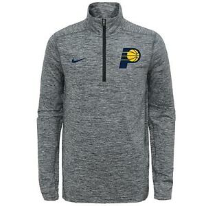 Nike NBA Youth Indiana Pacers Space Dye Heathered Grey 1/4 Zip Element Pullover