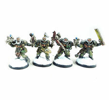 WARHAMMER 40K ARMY SPACE MARINE SPACE WOLVES SCOUTS X4 PAINTED