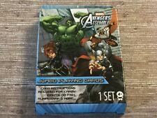 "Marvel Avengers Assemble Jumbo Playing Cards 3.5""x5"" Instructions Go Fish Crazy"