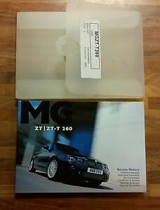 MG ZT260 2003/2004 Service & Hand book pack Part Number VDC000540ENG NOS