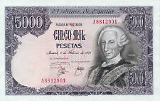Spain / España P-155 5000 pesetas 1976