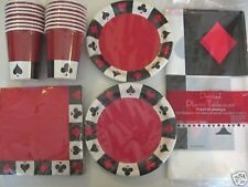 POKER CARD NIGHT Birthday Party Supply Set Pack for 16