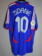 FRANCE NATIONAL TEAM 2006 2007 FOOTBALL SHIRT JERSEY MAILLOT #10 ZIDANE ADIDAS