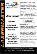5 litres Stain Guard Professional carpet cleaning protector like Scotch Guard