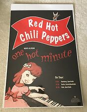 RED HOT CHILI PEPPERS - GERMAN TOUR PROMO POSTER - ONE HOT MINUTE - ORIGINAL NM