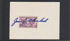 James J. Blanchard, Michigan Governor, AP signed 3x5 card & transmittal letter