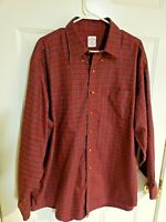 Brooks Brothers 346 Men XL Plaid Shirt Long Sleeve Red & Multicolor EUC