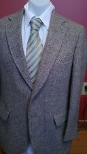 Vintage Brown Harris Tweed Herringbone Blazer Size True 40