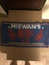 Bar Towel, Beer, McEwan's 80/ Ale Fountain Brewery Edinburgh, Great Addition!