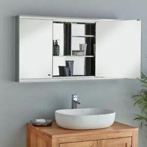 ~~~BIG SAVING~~~ 😁 Large Three Door Family Bathroom Mirrored Cabinet - FAULT