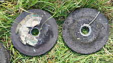 "2X Bench Grinder Stone Wheels OD 10"" thickness 1"", ID: 1 1/2"" Grid 36 & 14"