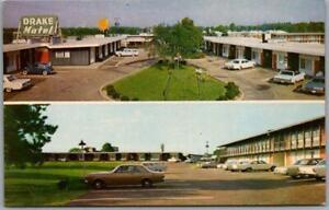 Jackson, Mississippi Postcard DRAKE MOTEL Highway 51 Roadside c1960s Unused