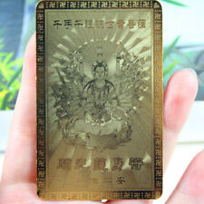 1pcs Chinese Feng Shui-Foca Gold Card Amulet For Protect-8 x 5cm Buddhist Gift