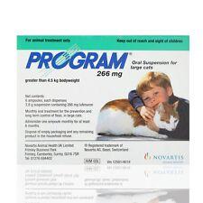 Program Flea Treatment - 6 Pack Oral Flea Suspension Large Cats over 4.5Kg