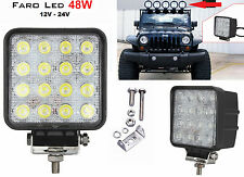 Faro supplementare LED Auto,Suv 12-24V universale.Faretto quadro fendinebbia 48