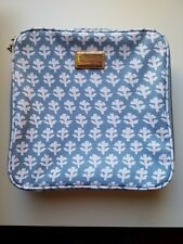 AERIN LAUDER ESTEE LAUDER MAKEUPS BAG / POUCH BLUE & WHITE CANVAS NEW