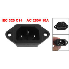 IEC 320 C14 Male Plug 3 Pins PCB Panel Power Inlet Socket Connector SY