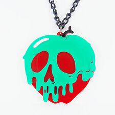DISNEY POISON APPLE NECKLACE evil queen villains snow white vintage emo witch