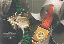 ▬► PUBLICITE ADVERTISING AD Montre Watch Hermès 2 pages Cape God