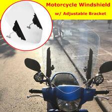 Motorcycle Bike Front Windshield +Adjustable Bracket Fit For YAMAHA Suzuki Honda