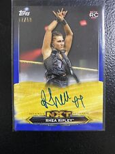 RHEA RIPLEY RC 2020 WWE NXT ON CARD AUTO AUTOGRAPH ROOKIE CARD BLUE SP 17/50