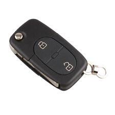 Audi A2 A3 A4 A6 A8 TT 2 Button Flip Remote Key Fob Case (CR2032 Battery)