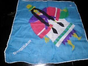 Vintage Swissair Airlines handkerchief