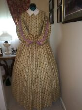 Civil War Reenactment Day Dress Size 12 Double Pleated Sleeves