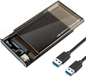 Boîtier Disque Dur Externe 2.5'' SATA HDD SSD Sans Outil, UASP Vitesse à 6Gbps