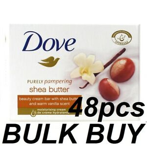 48 X DOVE SOAP BEAUTY CREAM BAR 100g PURELY PAMPERING SHEA BUTTER BRAND NEW