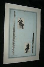 Original 1931 VICTOR TALKING MACHINE FLUTE Advertising Poster #7 LINENBACKED