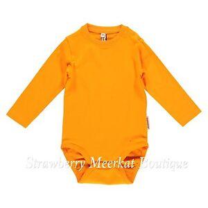 New Maxomorra Orange Long Sleeved Bodysuit Baby Vest 44 50 56