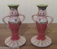 Pfaltzgraff Pistoulet Madam Claude Candlesticks    Set of 2