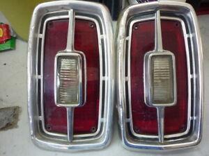 1966 Ford Fairlane Original tail light Assemblies  --Pair --