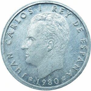 COIN / SPAIN / 50 CENTIMOS 1980 UNC     #WT23592