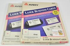 Avery Laser Business Cards 5377 Gray Lot Of 2