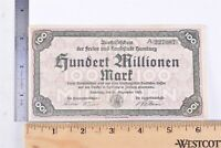 1923 German/Germany Hundred/100 Million Mark Banknote/Currency/Cash/Paper Money