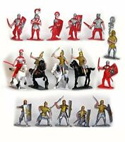 ROMAN TOY SOLDIERS Cavalry Infantry Horses Painted Plastic 20 Pieces FREE SHIP