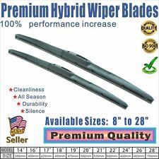 """19"""" + 17"""" Premium  Windshield Wiper Blades  OEM Quality J-Hook"""
