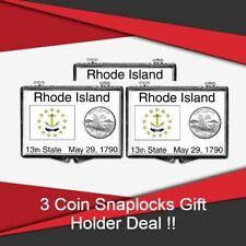 Coin Snaplocks Rhode Island State Flag Holder Quarters Storage Deal of 3 GIFT