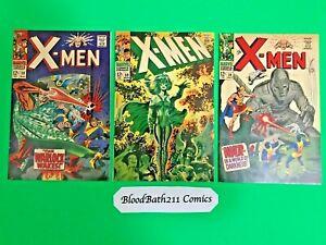 Silver Age Comics X-Men # 30, 34, 50. All High Grade 3 Book Lot