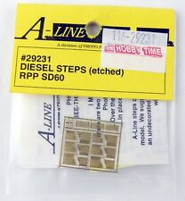 A-Line #29231 HO Scale Photo-Etched Brass See-Thru Diesel Steps RPP SD60