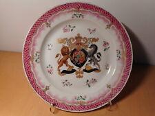 Assiette ancienne porcelaine gout Chine porcelaine compagnie Indes armoirie