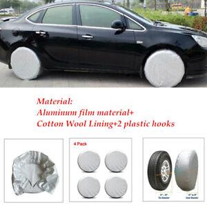 4PCS Wheel Tire Covers For RV Trailer Camper Car Truck SUV Aluminum Material